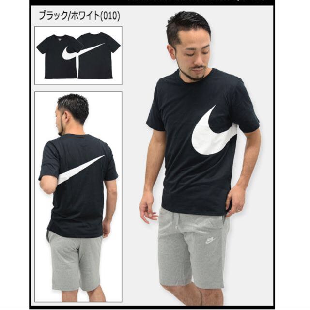 9529ee69b RESERVED) Nike Oversize Swoosh T-Shirt In Black, Men's Fashion ...