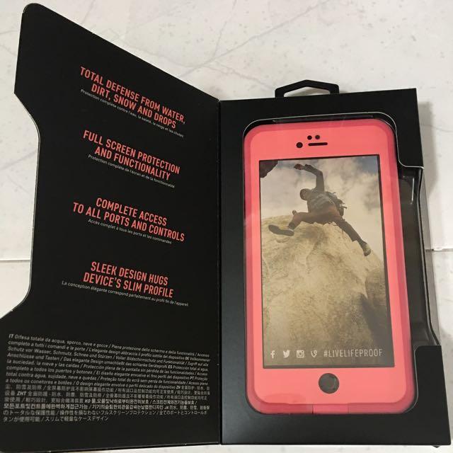 innovative design a349d b57e8 Life proof Pink Color IPhone 6/6s Plus Casing