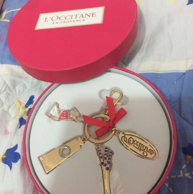 L'occitane Gift Charm Keychain