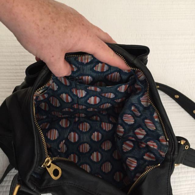 Marc By Marc Jacob's Black Leather Shoulder Bag