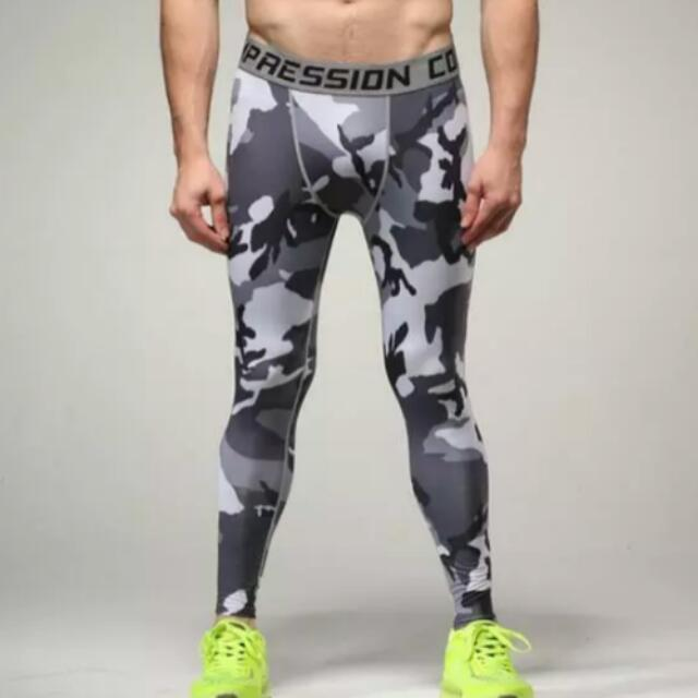 567264b30d Mens compression pants sports running tights basketball gym pants  bodybuilding jogger jogging fitness skinny leggings trousers, Men's Fashion  on Carousell