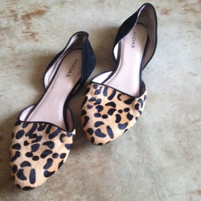 Midas Leopard Print Flats