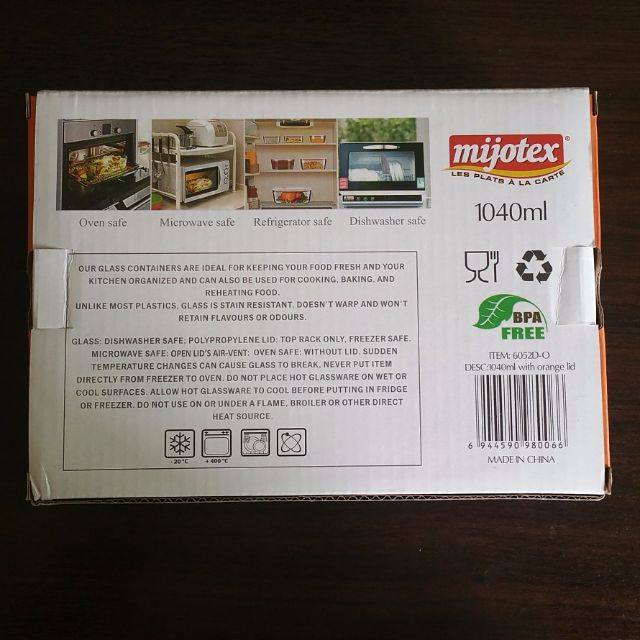 Mijotex Bakeware Container Lunch Box, Home Appliances on