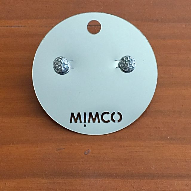 Mimco Mini Crystal Dome Studs
