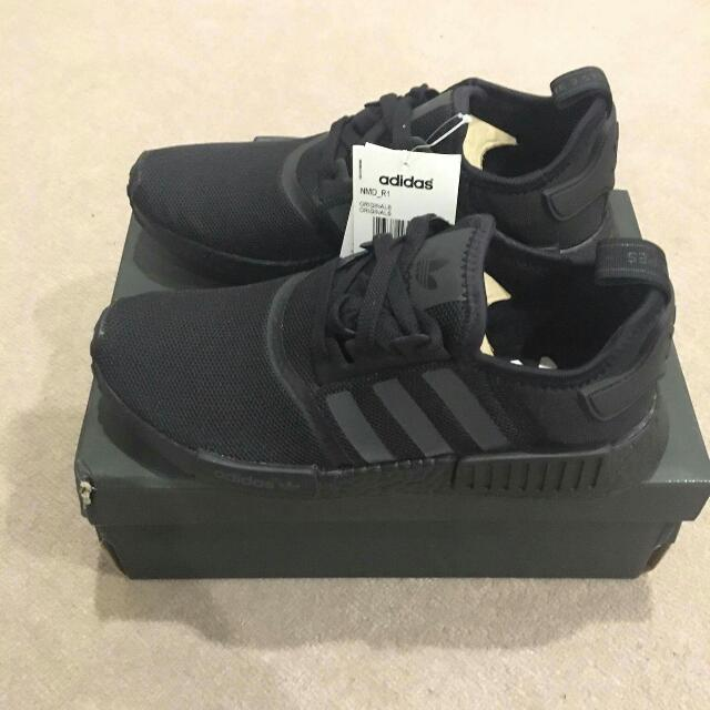 NMD Triple Black Mesh Size US 9.5 DS