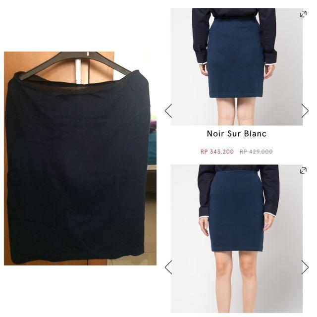 Noir Sur Blanc - Ladies Skirt