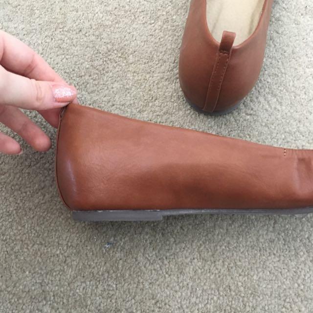 Novo Tan Brown Flats/ballet Shoes