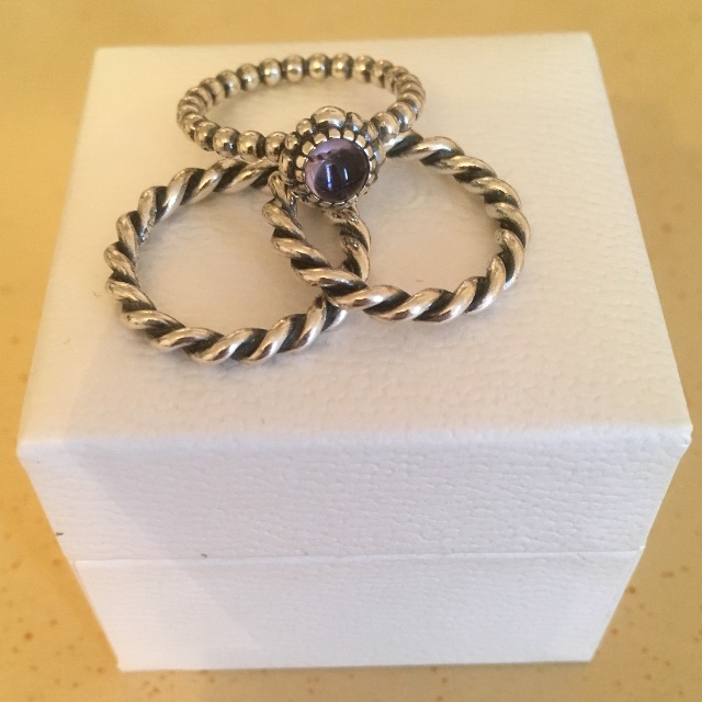 PANDORA Stackable 3 Ring Set $100