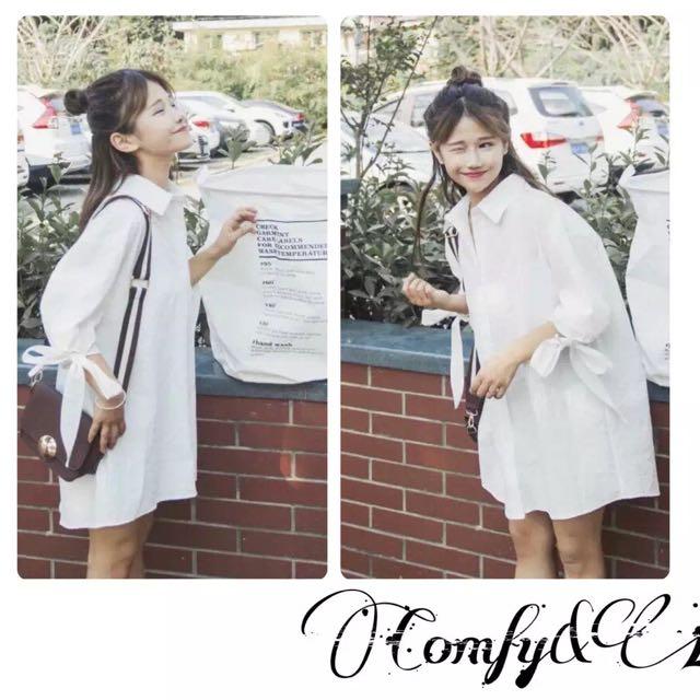 PO✨Oversize White Dress