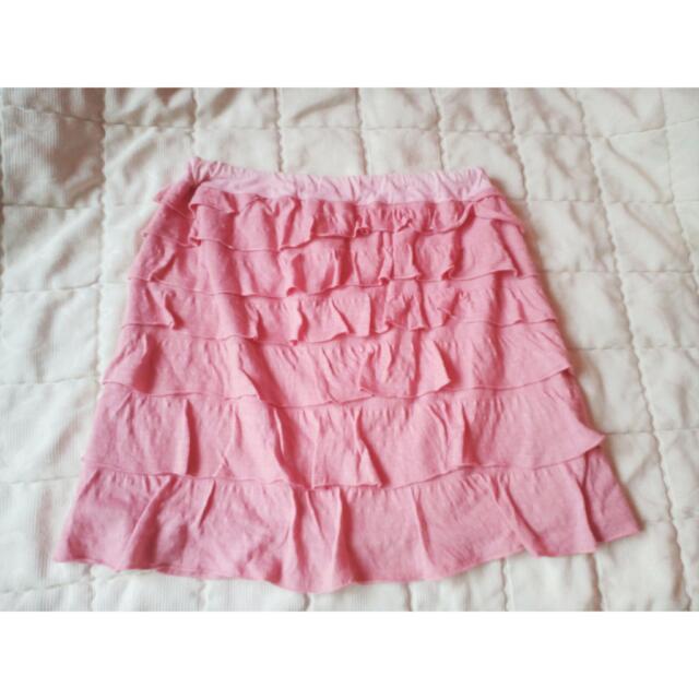 PRELOVED Peach ruffled Skirt