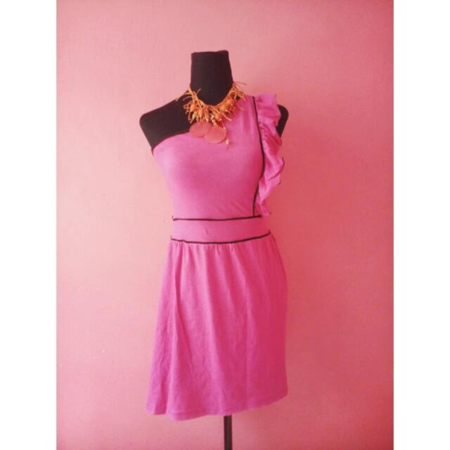 PRELOVED Pink asymmetrical Dress