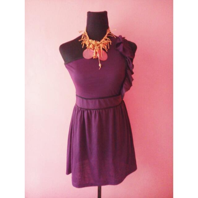 PRELOVED Purple Asymmetrical Dress