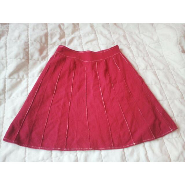 PRELOVED Red skirt
