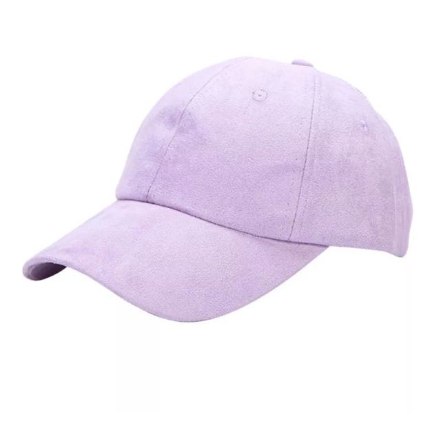 Purple Suede Cap