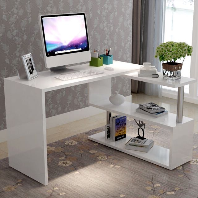 Rotating Computer Table Shelves Furniture On Carousell