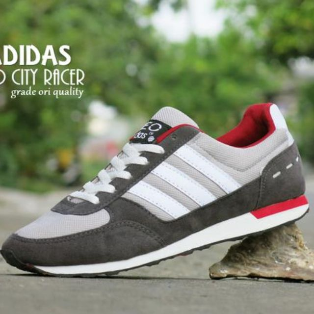 Sepatu Adidas Neo City Racer Grade Ori   Abu Abu Putih   Sport ... e99884e179