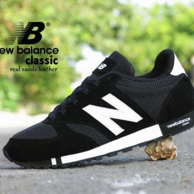 Sepatu Kets New Balance Classic Grade Ori   Hitam Putih   sport casual olahraga  pria cowok 36bcb0b25e