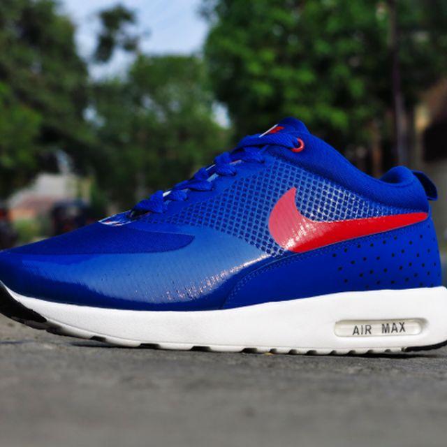 Sepatu Nike Airmax Thea Cowok / Biru Dongker Lis Merah (sepatu sport, olahraga, kets, casual, gym, fitnes, senam, joging, lari), Olshop Fashion, Olshop Pria ...