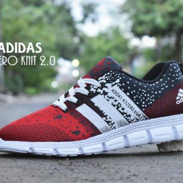 best service 14c6c 636cf Sepatu Sport Adidas Adizero Knit 2.0  Merah Putih  olahraga joging  running, Olshop Fashion, Olshop Pria on Carousell