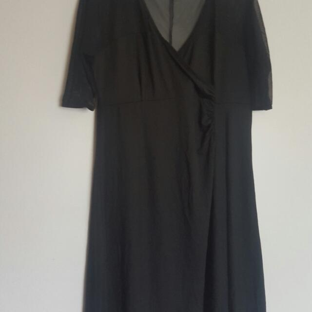 Sexy Black Xxl Stretchy Dress