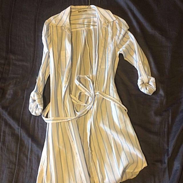 Shirt Dress Beachwear Casual 8 Small