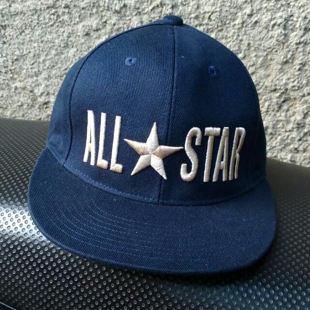 8f1ddf46b1e7a Snapback Hat Converse (Original Dark-blue), Men's Fashion, Men's ...