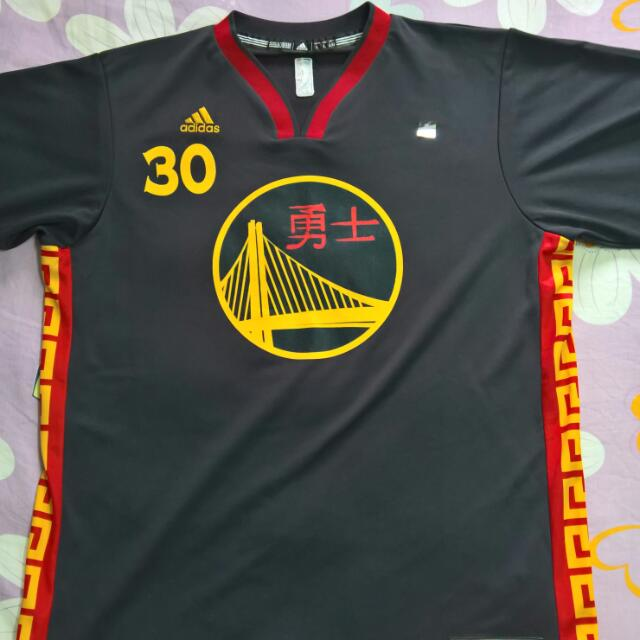 promo code d0f6c 1f77f Stephen Curry Chinese New Year 2016 Replica Jersey