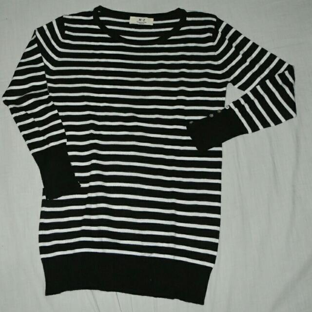 Striped Knitted Blouse