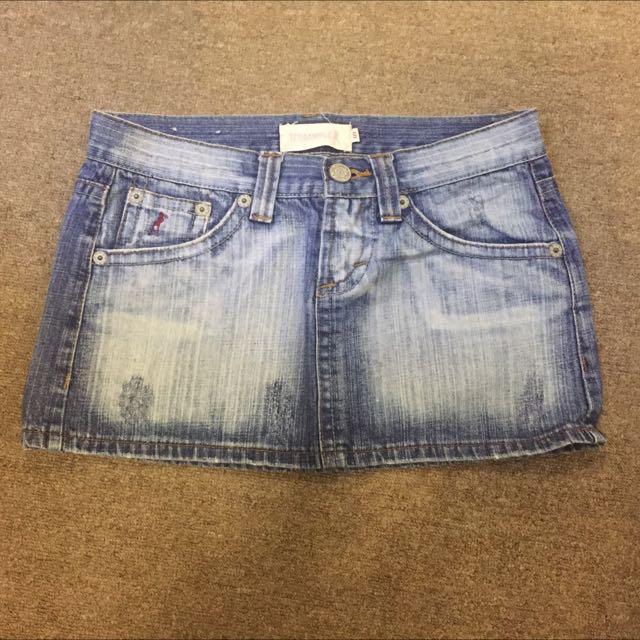 Terranova Denim Mini Skirt