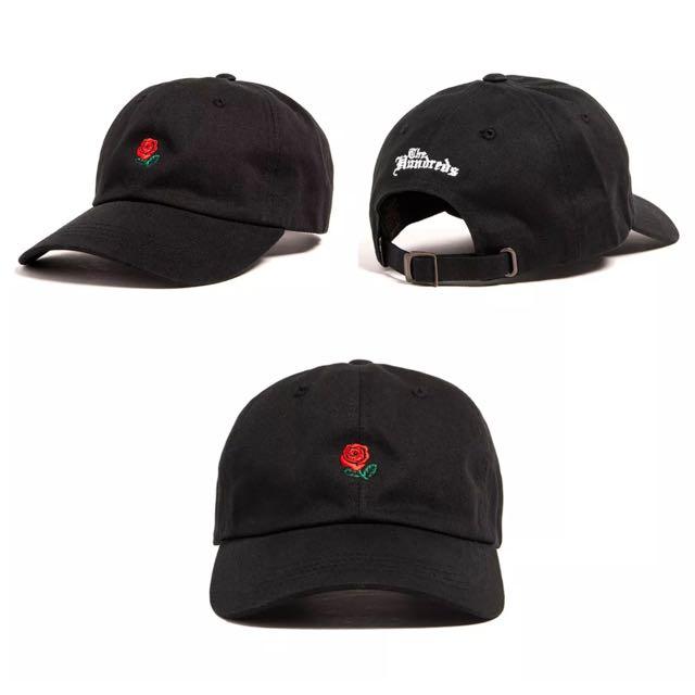 The Hundreds Rose Black Cap