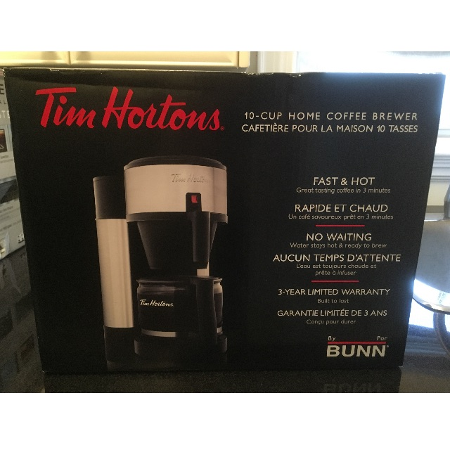 TIM HORTONS BUNN COFFEE MAKER $100