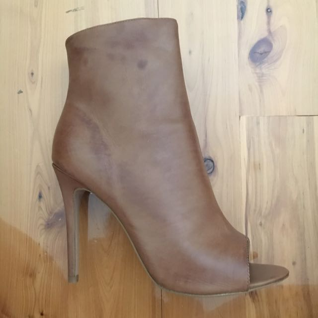 Tony Bianco Brown Leather Ankle Boots