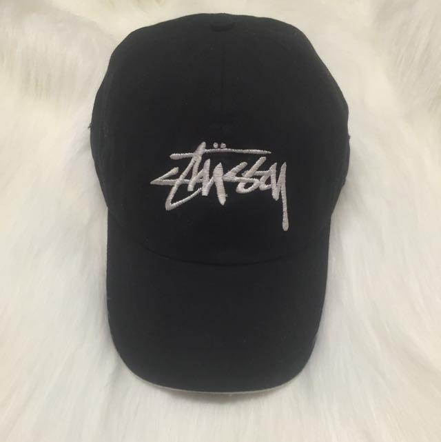Unisex Black Stussy Hat