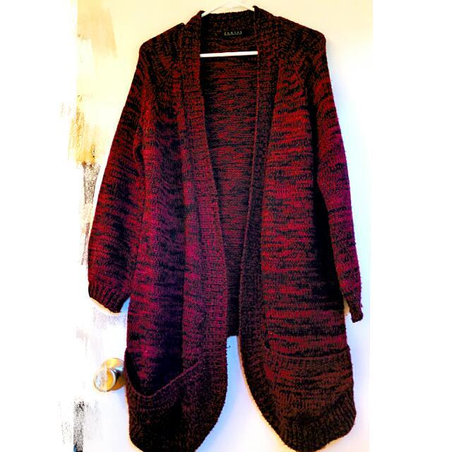 Warm Long Knit Cardigan Top *Reduced*