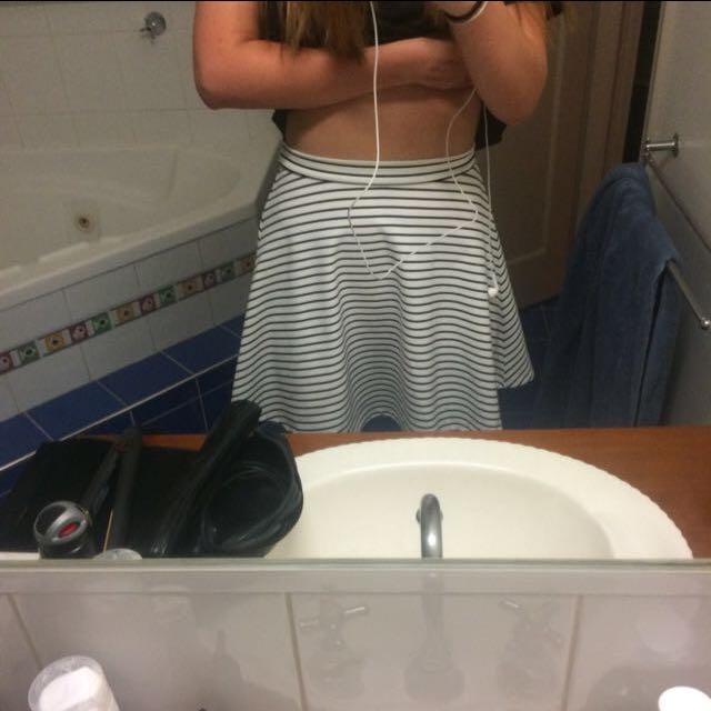 White Skirt From Ally