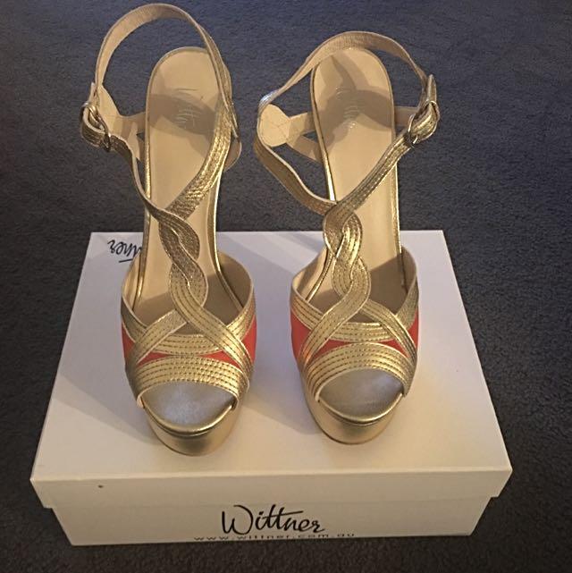Wittner Gold High Heels