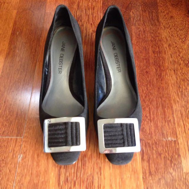 Work Shoes Suede Heel Jane Debster Size 36.5