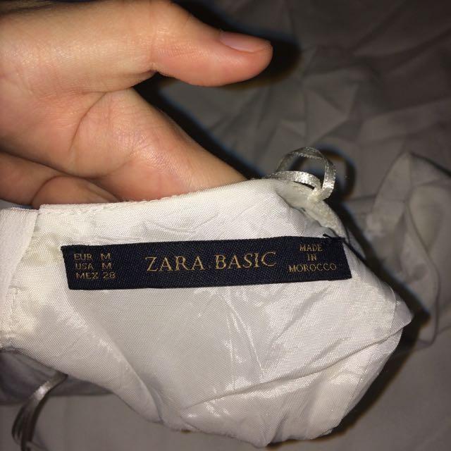 Zara 白 裙