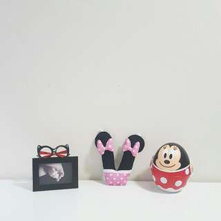 Minnie Mouse Theme Name Initial