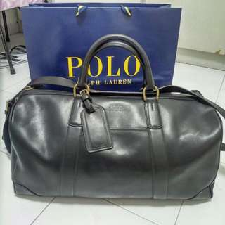 Polo Ralph Lauren soft leather travelling bag