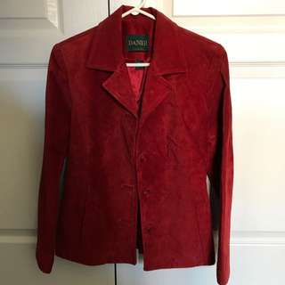Danier Red Suede Jacket