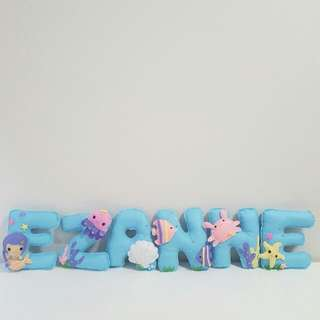 Little Mermaid Under The Sea Theme Customised Name Banner
