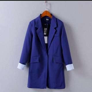 出口韓國 藍色西裝外套 包SF Express 順豐站自取