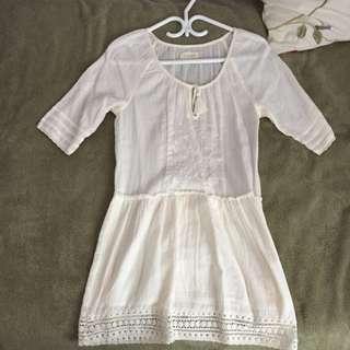 White Boho Aritzia Dress