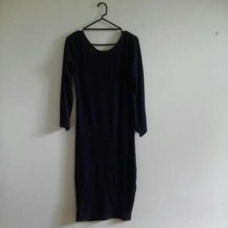 Mirrou Navy Blue Dress