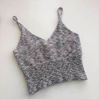 Knitted Sleeveless Crop Top