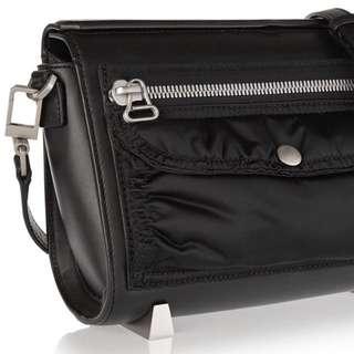 Alexander Wang Black Leather Chastity Shoulder Bag