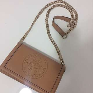 Authentic Guess Brown Cossbody Chain Purse