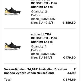 Ultraboost Olympics Gold Mens Authentic With Receipt