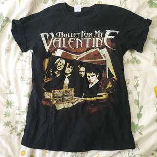 🌻 BULLET FOR MY VALENTINE BMFV BAND CONCERT TEE MERCH 🌻